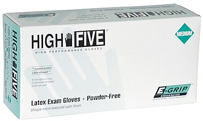 E-Grip Powder-Free Latex Exam Gloves, Medium