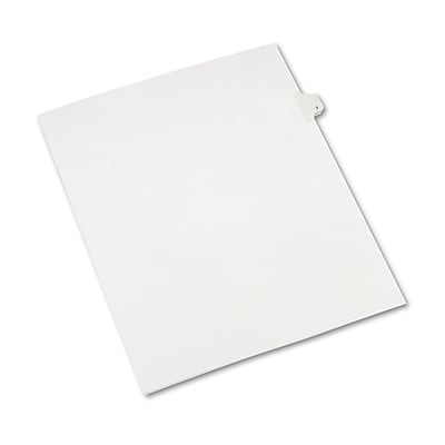 Avery® Individual Legal Exhibit Dividers - Allstate® Style, Letter Size, Side Tab, 7, 25/Pk