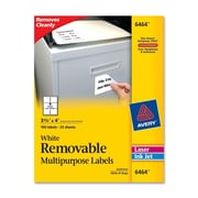 "Avery® 6464 Removable Inkjet/Laser Labels, 3-1/3"" x 4"", 150/Pack"