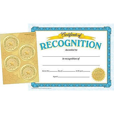 Trend Enterprises® Recognition Certificates and Award Seals Combo Pack, 8 1/2