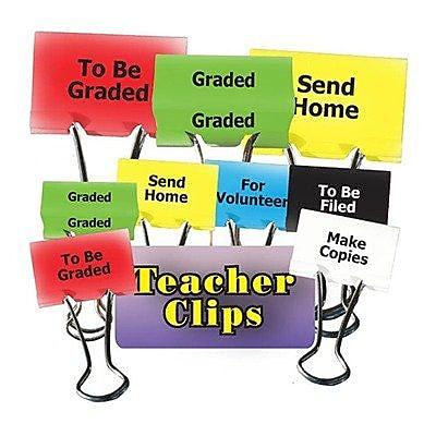 Top Notch Teacher Products® Things To Do Teacher Clip Set, 1-1/4