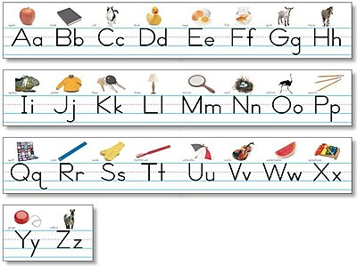 North Star Bulletin Board Sets, Alphabet Lines, Traditional Manuscript