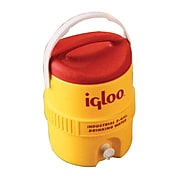 Igloo® 11.5 in (L) x 14.75 in (H) Yellow Polyethylene Beverage Cooler with Spigot, 2 gal