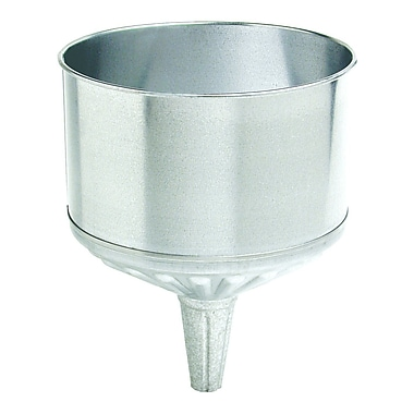 Plews® 1 in (OD) Tip 9 1/2 in (Dia) Galvanized Steel Tractor Funnel, 12 in (H), 8 qt Capacity