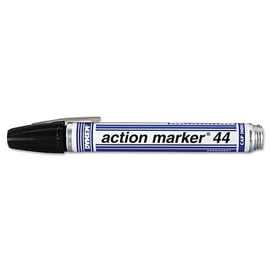 Action marker® Medium Fiber Tip Series 44 Ink Marker, Black