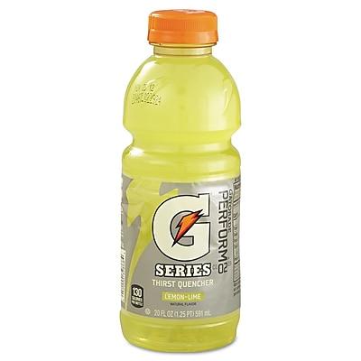 Gatorade® Lemon Lime, 20 oz. Bottles, 24/Case