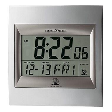 Howard Miller ®Radio Control TechTime II LCD Wall/Table Alarm Clock