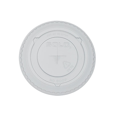 Solo® Straw Slot Plastic Cold Cup Lids, 10 oz., Clear, 2500/Carton (600TS)