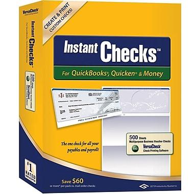 Instant Checks™ for QuickBooks®, Quicken® & Money - Form #1000 Business Voucher Security Checks - Blue - Prestige - 500pk