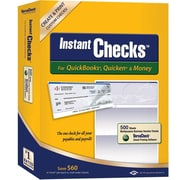 Instant Checks™ for QuickBooks®, Quicken® & Money - Form #1000 Business Voucher Security Checks - Blue - Prestige - 500pk