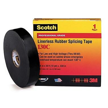 Scotch® Black Ethylene Propylene Rubber 130C Electrical Tape, 3/4 in (W), 30 ft (L), 30 mil (T)