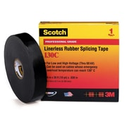 Scotch® Black Ethylene Propylene Rubber 130C Electrical Tape, 3/4 in (W), 30 ft (L), 30 mil (T)