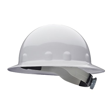 SuperEight® 8 Point 3-R Ratchet Suspension Thermoplastic Full Brim Superlectric Hard Hat, White