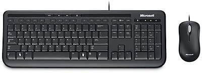 Microsoft Wired Desktop 600, Mouse and Keyboard Combo, Black (APB-00001)