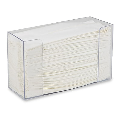 Professional Heavy Acrylic Paper Towel Holder for C-Fold and Multi-Fold Hand Towels