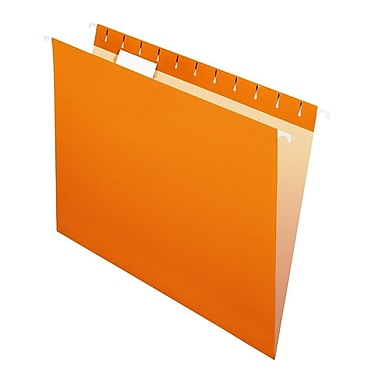 Pendaflex® Reinforced Hanging File Folders, 5 Tab Positions, Legal Size, Orange, 25/Box (4153 1/5 ORA)