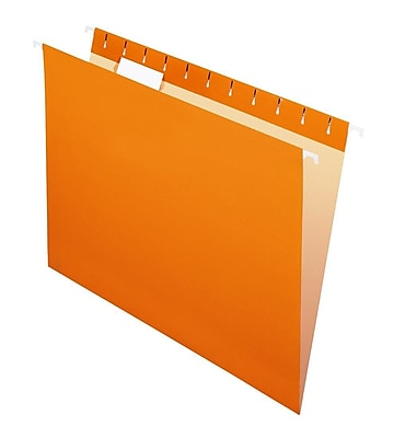 Pendaflex® Recycled Colored Hanging File Folders, Legal Size, Orange