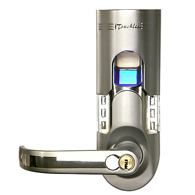 iTouchless Bio-Matic Fingerprint Door Lock Silver Color - Right Handle