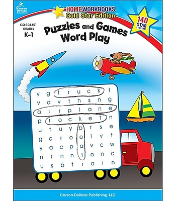 Carson-Dellosa Puzzles and Games: Word Play Resource Book, Grades K - 1 803491