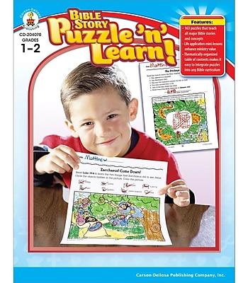 Carson-Dellosa Bible Story Puzzle 'n' Learn! Resource Book, Grades 1 - 2