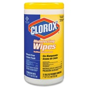 Clorox® Disinfecting Wipe, Lemon Fresh, 75 Count Canister,  6 Canister/Case
