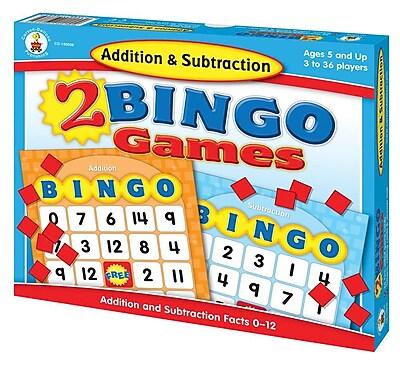 Carson-Dellosa Addition & Subtraction Bingo Board Game