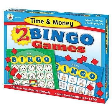 Carson-Dellosa Time & Money Bingo Board Game
