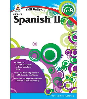 Carson-Dellosa Spanish II Resource Book, Grades 6 - 8