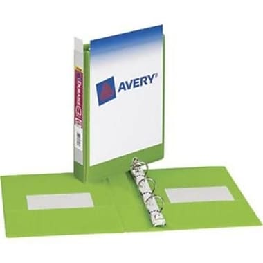 Avery Durable Mini 1-Inch Round 3-Ring View Binder, Black (7301)