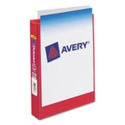 "1"" Avery® 5-1/2"" x 8-1/2"" Mini View Binder with Round Rings,  Red"