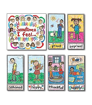 Carson-Dellosa Kid-Drawn Emotions Bulletin Board Set