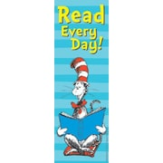 Eureka® Cat In The Hat™ Read Every Day Bookmark, Grades Pre-school - 6th (EU-834280)