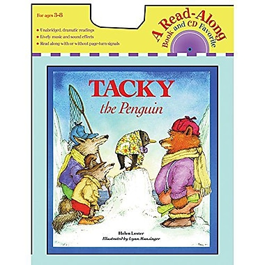 Houghton Mifflin American Heritage Tacky The Penguin Carry Along Book And Cd Set By Helen Lester, Grade K - 3 (HO-0618737545)