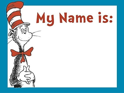 Eureka® Name Tag, Cat In The Hat, Infant - 3rd Grade (EU-659750)