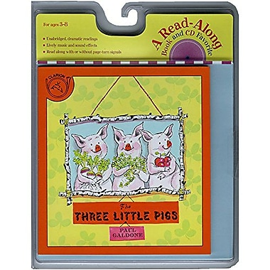 Houghton Mifflin American Heritage Three Little Pigs Carry Along Book And Cd Set By Paul Galdone, Grade K-3 (HO-0618732772)