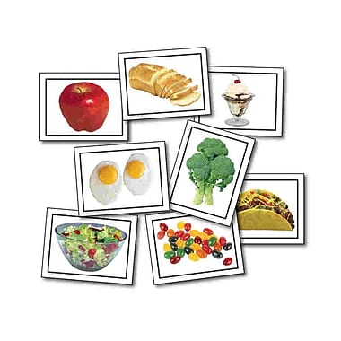 Key Education Publishing® Food Photographic Photographic Learning Cards, Grades pre-kindergarten-1st