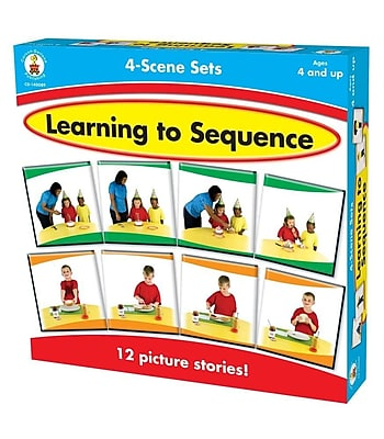 Learning to Sequence 4-Scene Board Game, Ages 4 and up