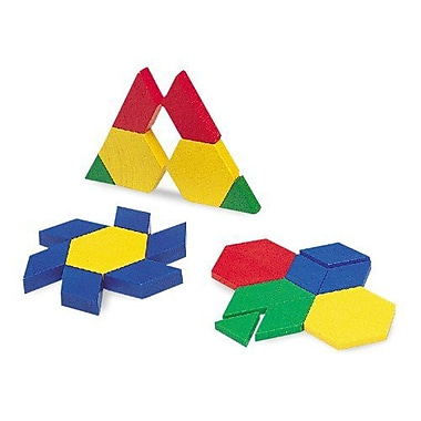 Learning Resources Mini-Set Pattern Blocks, Grade Pre-School - 12th, 100/Pack (LER0634)