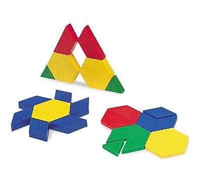 Pattern Blocks, Learning Resources® Mini-Set Pattern Blocks