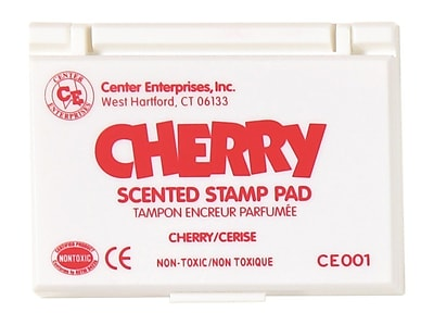 Center Enterprises® Scented Stamp Pad/Refill, Cherry/Red (CE-01)