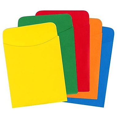 Top Notch Teacher Products® Assorted Brite Primary Pocket, 35/pack (TOP429)