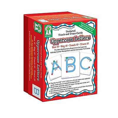 Key Education Textured Touch & Trace Cards, Uppercase Letters