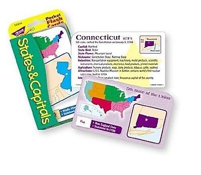 Trend Enterprises® Flash Cards, States and Capitals Pocket
