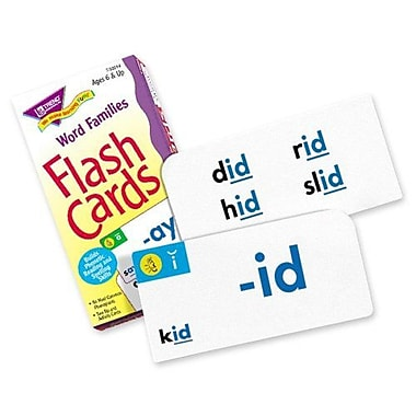 Trend Enterprises Word Family Skill Drill Flash Cards, Grade 1 - 3, 96/Pack (T-53014)