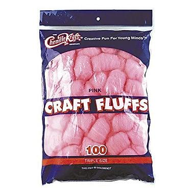 Chenille Craft® Craft Fluff Balls, Pink