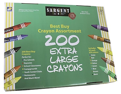 Sargent Art® Best Buy Extra-large Crayon Value Pack, 200/Box