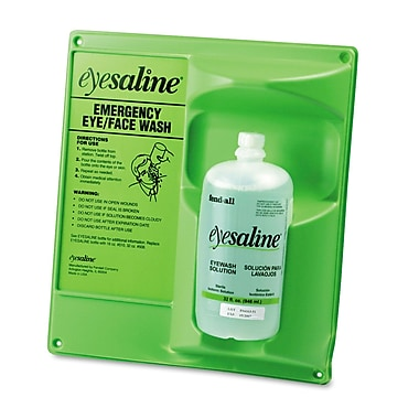 Fendall Sperian Saline Single Eye Wash Wall Station, 8/Carton