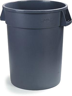 Carlisle Bronco 55 gal. Polyethylene Trash Can without Lid, Gray