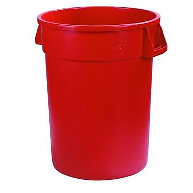 Carlisle Bronco 55 gal. Polyethylene Trash Can without Lid, Red