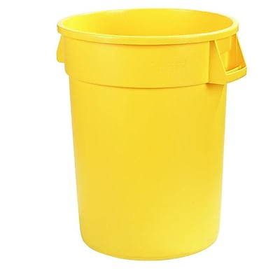 Carlisle Bronco 44 gal. Polyethylene Trash Can without Lid, Yellow